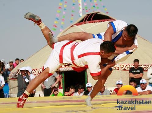 "National sport show ""Kazakh kuresi"""